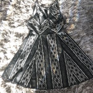 Free People Black & Beige Dress - 8